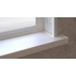 Műanyag ablakpárkány fehér 124x30