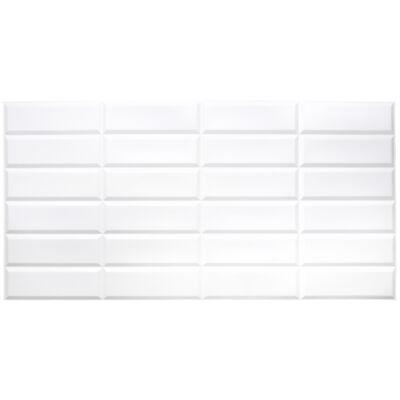 Dekor PVC fali panel fehér tégla