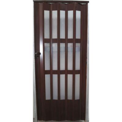 Üvegkazettás harmonika ajtó dió