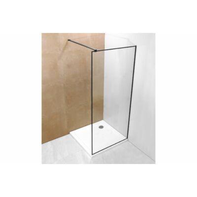 Zuhanyfal fekete szegélyű 80x190 A-20P-3