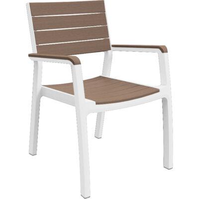 HARMONY karfás műanyag szék világos barna