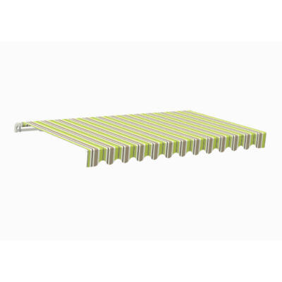 Kézi tekerős napellenző zöld-szürke 295x200