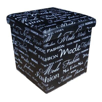 Design tárolós ülőke 38x38 Fashion fekete