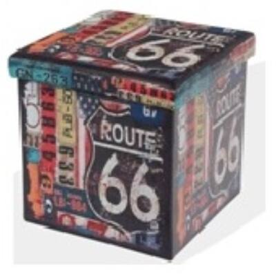 Design tárolós ülőke 38x38 Route 66