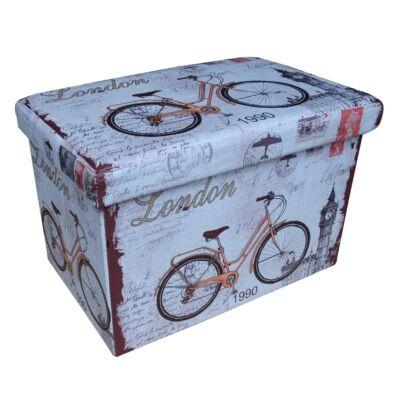 Design tárolós ülőke 48x32 Bicikli