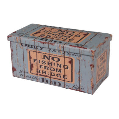 Design tárolós ülőke 76,5x38 Old Coffer