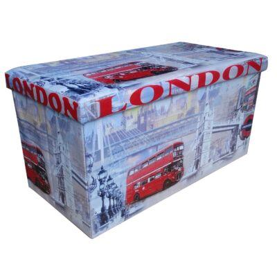 Design tárolós ülőke 76,5x38 London
