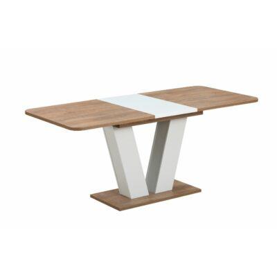 Vegas 2 bővíthető asztal Woten tölgy - fehér