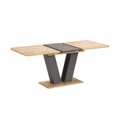Vegas 2 bővíthető asztal Kansas tölgy - szürke