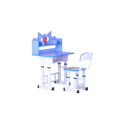 Gyerek számítógép asztal szett fémvázas kék