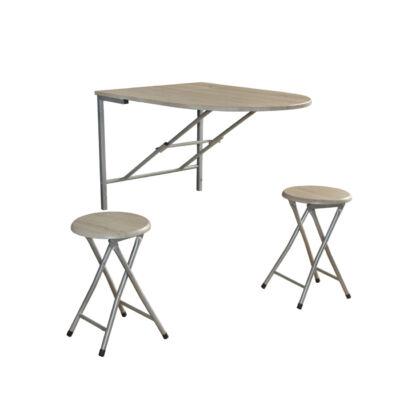 Nápoly lehajtható asztal+2 szék több színben