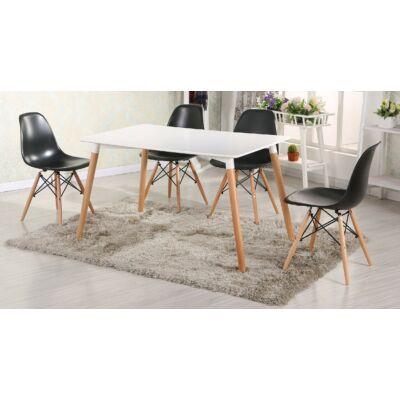 Lizzy asztal + 4 db Lunaria szék fehér