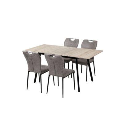 Bővíthető étkező asztal + 4 db Katalin szék