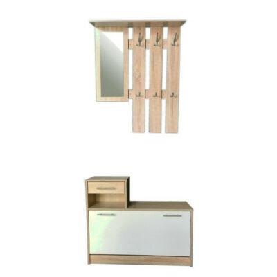 Filio tükrös előszobafal fehér-fehér tölgy