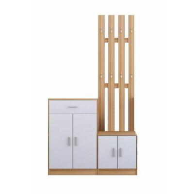 Furiani előszobafal fehér-fehér tölgy