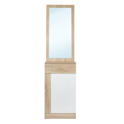 Dézi tükrös szekrény fehér-fehér tölgy