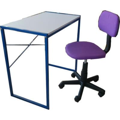 Ifjúsági asztal + szék  szett (kék/lila)