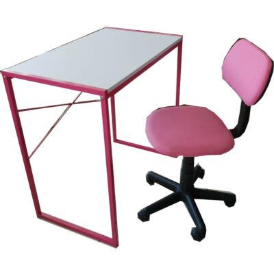 Ifjúsági asztal + szék szett (pink)